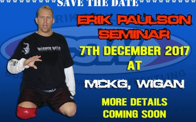 Save The Date – Erik Paulson Seminar on 7th December 2017