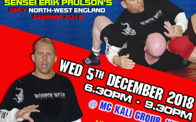 **CANCELLED** Erik Paulson UK Seminar on 5th December 2018