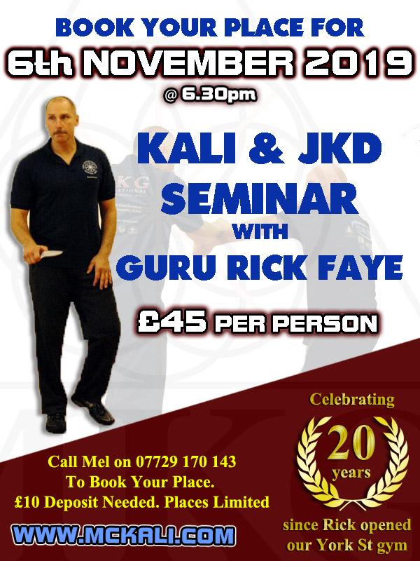rick faye uk seminar 2019
