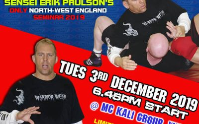 Book Your Place on Erik Paulson UK Seminar at MCKG 3rd December 2019
